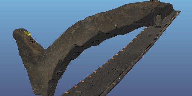 A 3D scan of one of the ship's timbers.