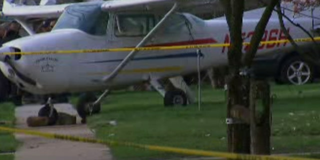 All three people on board the plane survived the crash.