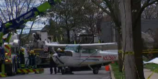 The aftermath of the plane crash in Long Island over the weekend. (WNYW)