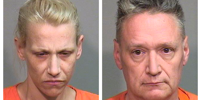 """JoAnn Cunningham, left, and Andrew Freund Sr. were charged in the murder of their five year-old son, Andrew """"AJ"""" Freund."""