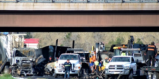 At least four people were killed in the crash on I-70 near Colorado Mills Parkway on Thursday, April 25, 2019.