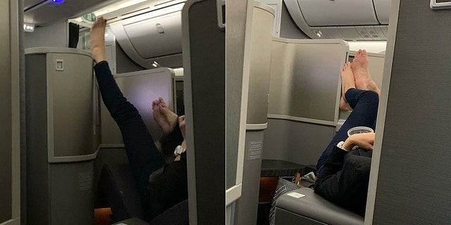 """Whether or not the blissfully oblivious couple was aware at the time, they had been formally """"passenger-shamed"""" in the high skies."""