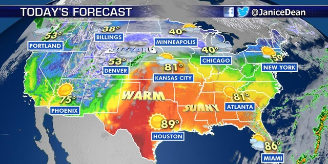 Warm temperatures south of the massive blizzard may bring the threat of severe weather to the Midwest.