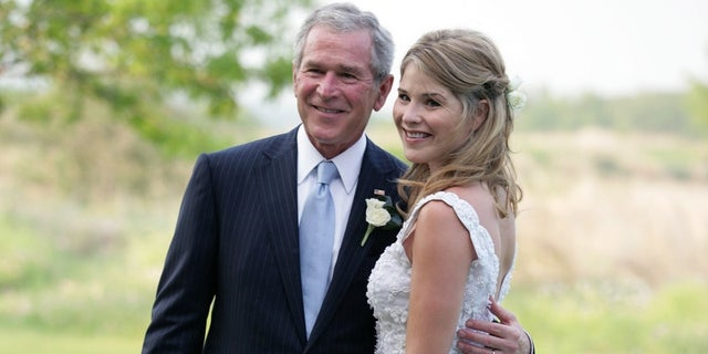 """Today"" show host Jenna Bush Hager joked during Wednesday's show that her father, former President George W. Bush, ""can't speak English that well."""