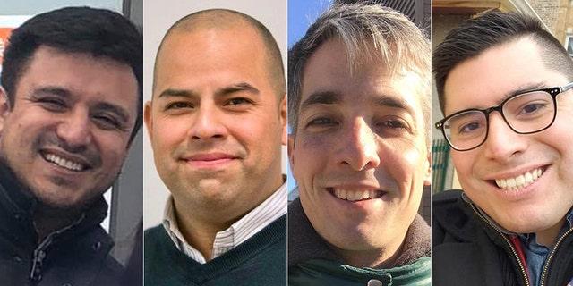 Democratic socialists Byron Sigcho-Lopez, Andre Vasquez, Daniel La Spata and Carlos Ramirez-Rosa (L-R) have all won seats on Chicago's City Council.