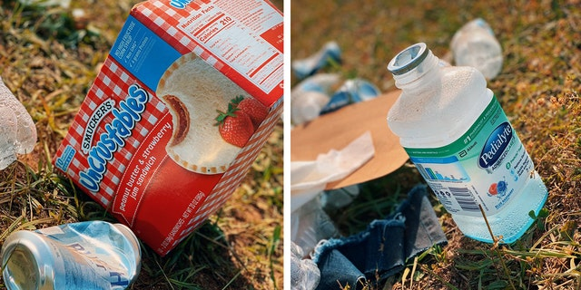 Talladega Superspeedway found a college starter container in a waste left after a GEICO 500 Sunday.