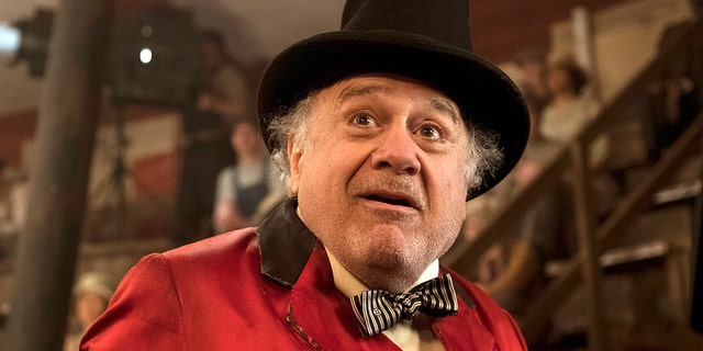 """This image released by Disney shows Danny DeVito in a scene from """"Dumbo."""""""