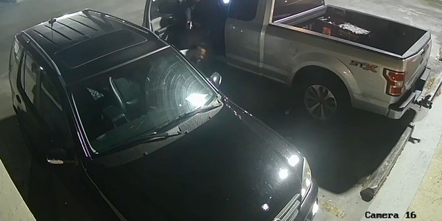The entirety of the exchange between what appears to be Paneque and Lopez was caught on a hidden camera in a parking garage after its owner secretly installed the camera after his car was vandalized