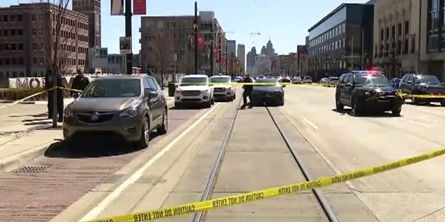 The shooting happened around 12:30 p.m. after an argument on a bus on Woodward Avenue in Detroit.