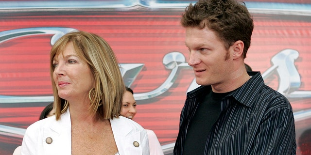 NASCAR driver Dale Earnhardt Jr., right, and his mother Brenda Jackson.