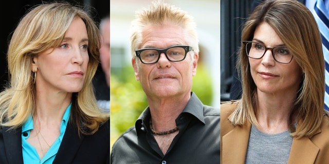 Harry Hamlin expressed sympathy for Felicity Huffman and Lori Loughlin's daughters after the actresses were embroiled in a nationwide college admissions scandal.