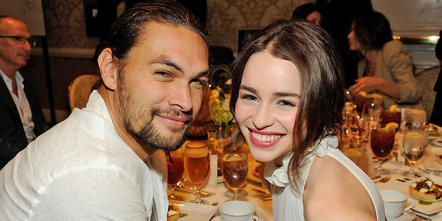 """Game of Thrones"" stars Jason Momoa and Emilia Clarke attend the 12th Annual AFI Awards."
