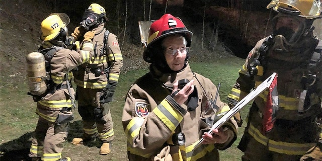 Lester McInally takes on a support role during fire operations.
