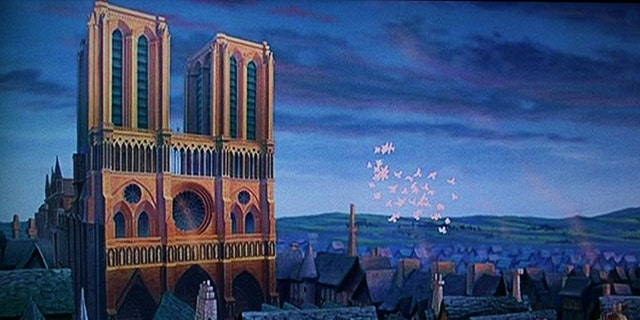 """""""The Hunchback of Notre Dame"""" features the iconic cathedral heavily throughout the film."""