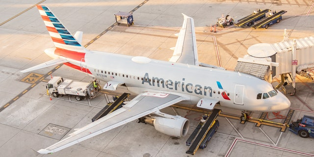 """""""Once the flight arrived at the gate, the passenger opened one of the doors and jumped off the aircraft,"""" according to American Airlines."""