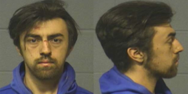 """Mugshot forJake Wascher, 21, of San Diego, charging with stabbing two fellow University of Hartford students on Sunday as they acted out a scene from the movie """"The Butterfly Effect."""""""