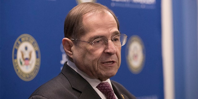 U.S. Rep. Jerrold Nadler, D-N.Y., chair of the House Judiciary Committee, speaks Thursday following the release of a redacted version of the Mueller report.