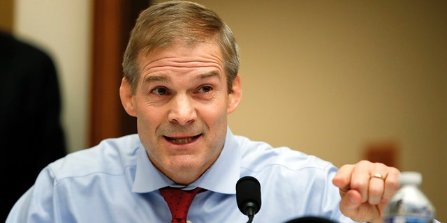U.S. Rep. Jim Jordan, R-Ohio, has often faced criticism for opting against wearing a jacket during committee hearings on Capitol Hill. (Associated Press)
