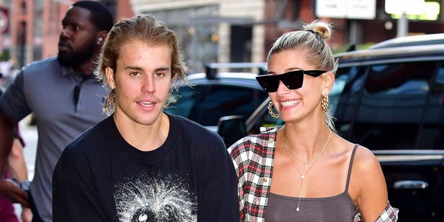 Justin Bieber and Hailey Baldwin in New York City.