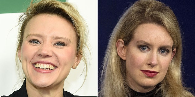 Kate McKinnon (left) is expected to play disgracedTheranos founder Elizabeth Holmes (right) in an upcoming miniseries, according to reports.