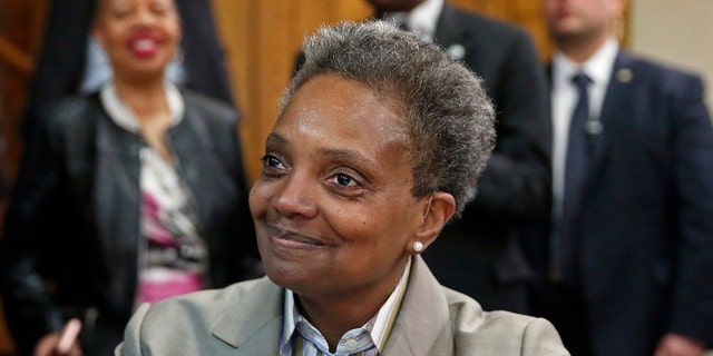 Chicago's then Mayor-elect Lori Lightfoot is seen in Chicago, April 3, 2019. (Associated Press)