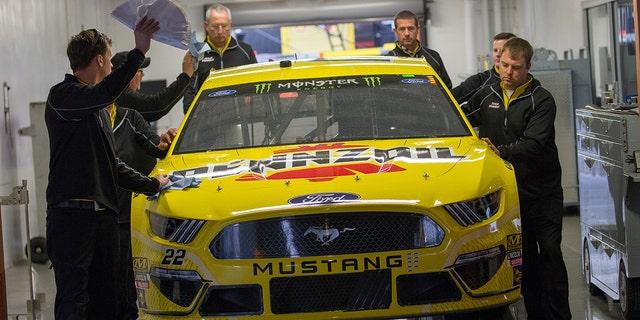 Cars go through a tech inspection before every race.