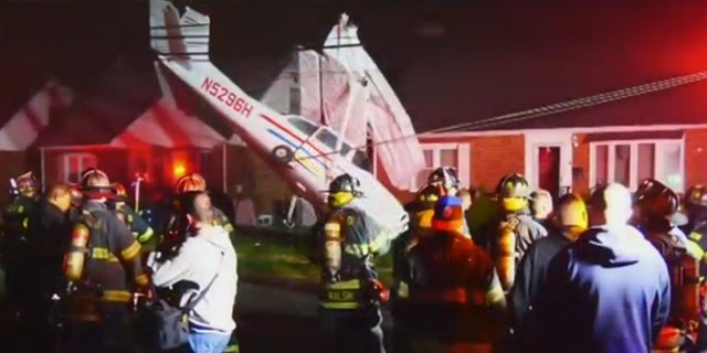 All 3 organisation on house a craft survived a crash, with one pang a sprained finger, according to Fox5 NY.