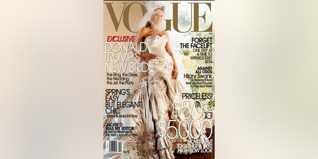 Melania Trump appeared on the cover of Vogue in 2005.