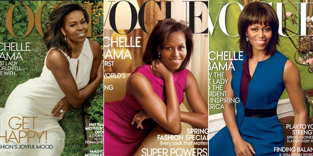 Michelle Obama appeared on the cover of Vogue three times.