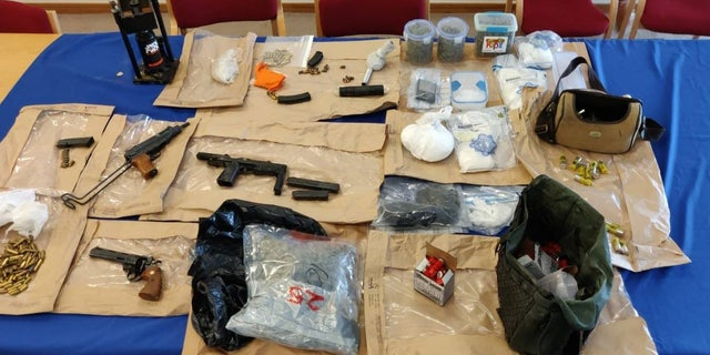A cache of weapons were discovered in a home in Dublin, Ireland on Friday.