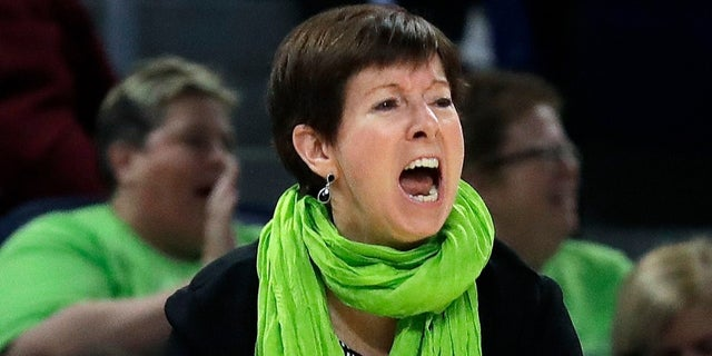 Notre Dame head coach Muffet McGraw led her team to victory on Friday, April 5, 2019.