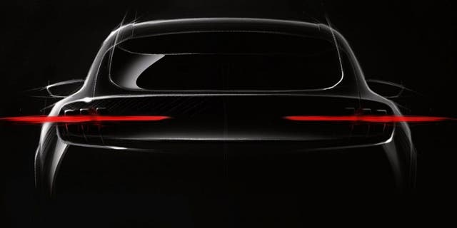 Ford has only released this teaser image of its Mustang-inspired SUV
