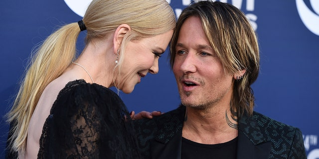 Nicole Kidman, left, and Keith Urban arrive at the 54th annual Academy of Country Music Awards at the MGM Grand Garden Arena on Sunday, April 7, 2019, in Las Vegas. (Photo by Jordan Strauss/Invision/AP)