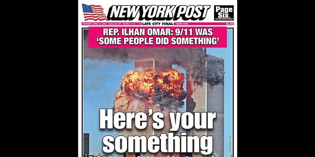 The cover of the New York Post on Thursday, April 11, 2019.