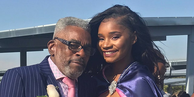 """""""I decided to ask my grandpa to take pictures with me because I knew that he has never had a prom, and he hasn't experienced getting dressed up and buying a corsage and all of that,"""" Bell told Fox News."""