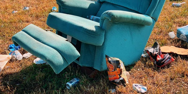 Talladega Superspeedway posted images of a problematic rabble left behind after a GEICO 500 competition Sunday.