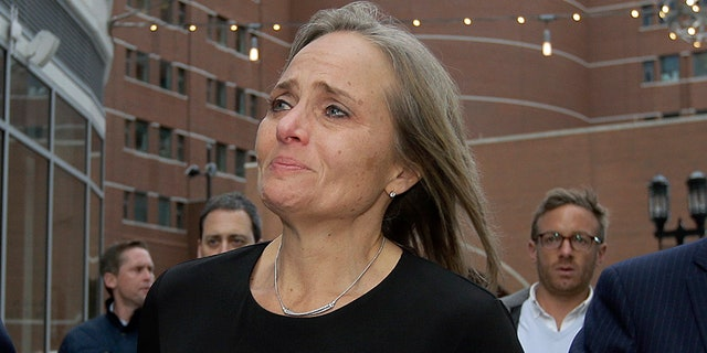 District Court Judge Shelley M. Richmond Joseph departs federal court on Thursday in Boston after facing obstruction of justice charges for allegedly helping a man in the country illegally evade immigration officials as he left her Newton, Mass., courthouse after a hearing in 2018. (AP)