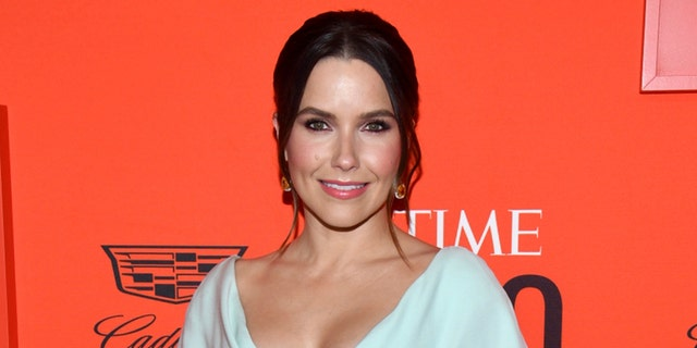 Sophia Bush flaunts cleavage in glittery green gown at Time 100 Gala