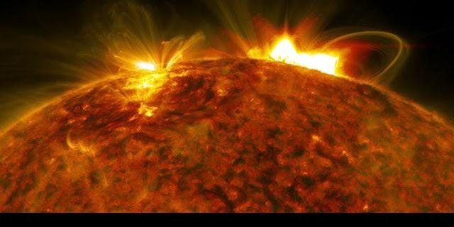 NASA's Solar Dynamics Observatory captured an image of the massive flare that burst off the sun on Sept. 10, 2017. (Credit: NASA/Goddard/SDO)
