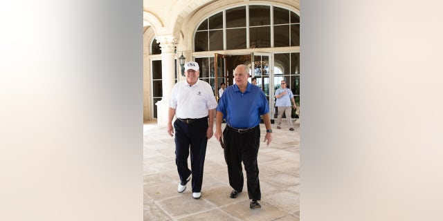 President Trump with conservative radio show host Rush Limbaugh on Friday, April 19, 2019.