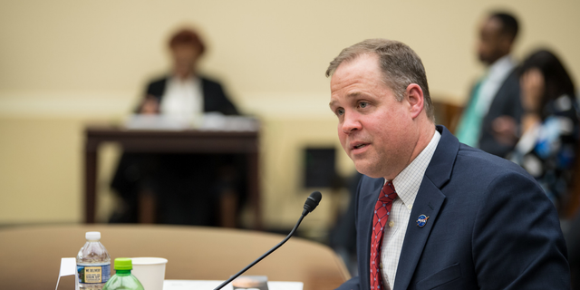 NASA Administrator Jim Bridenstine testifies before the House Committee on Science, Space and Technology on April 2, 2019, during a hearing to review NASA's fiscal year 2020 budget request.