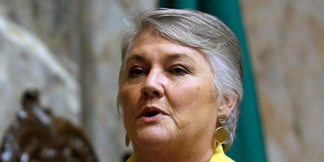 Sen. Maureen Walsh, R-Walla Walla, has angered nurses by commenting in a speech that some nurses can spend much time playing cards in rural hospitals. (AP Photo / Ted S. Warren, File)