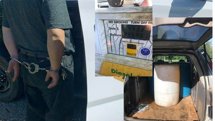 California driver arrested after hauling 285 gallons of diesel fuel in a minivan, officials say