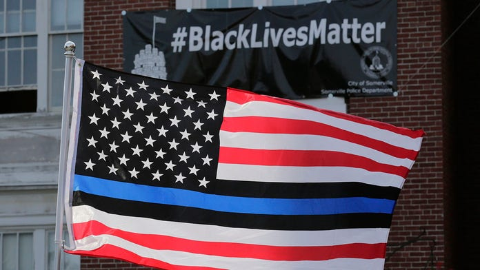 Dispute over pro-police 'Blue Lives Matter' flag results in $100G settlement for county employee who sued