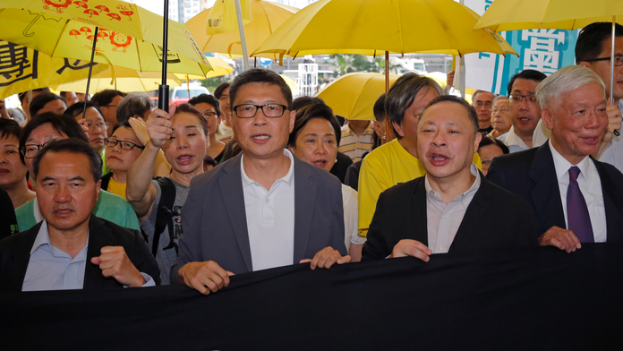 The Latest: Hong Kong protest organizers sentenced