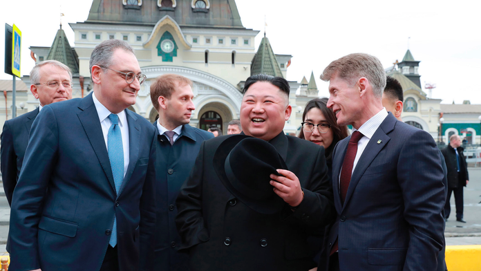 Russia's Putin arrives for summit with North Korea's Kim