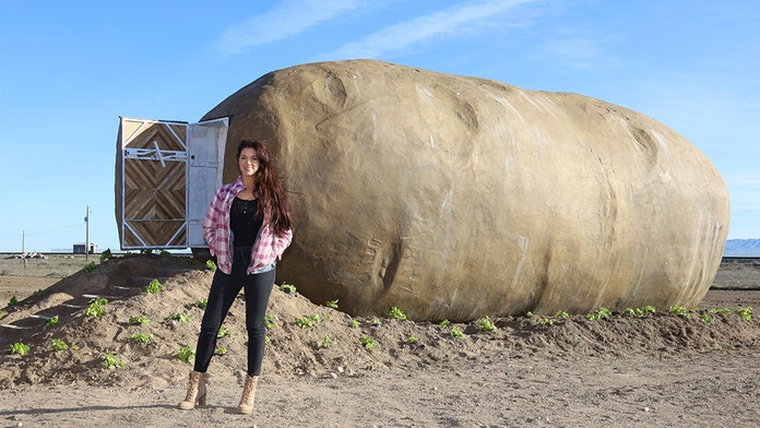 Giant Idaho potato prop converted into Airbnb rental