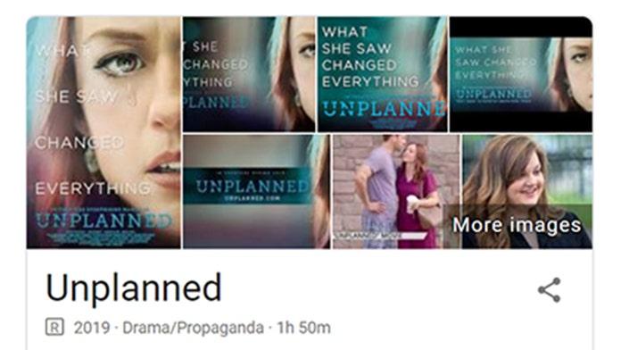 Google under fire for dubbing 'Unplanned' film 'propaganda'