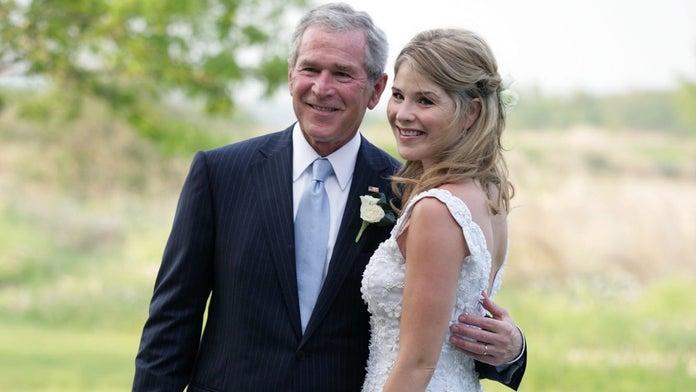 Jenna Bush Hager jokes her father, former President George W. Bush, 'can't speak English' well