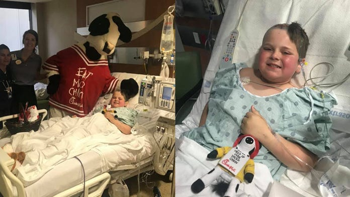 Chik-fil-A makes rare Sunday delivery for boy with brain tumor